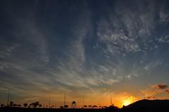 Dusk (Rosanna Leung) Tags: sunset sky cloud mountain silhouette evening dusk  macau    sunray   taipa