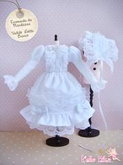 Meu primeiro Vestido Lolita ( Kitana) Tags: white branco doll dress sweet lolita pullip blythe vestido headband algodo renda cetim kitana mcnew hellokika