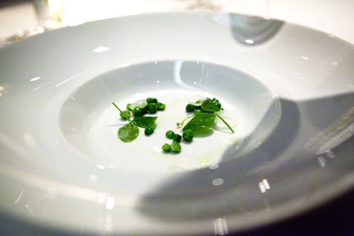 Chilled English Pea Velouté (before the pour)