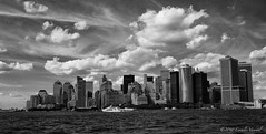 Manhattan Skyline (CVerwaal) Tags: nyc newyorkcity newyork skyline clouds lumix harbor waterfront manhattan hudsonriver newyorkharbor lumixlx3