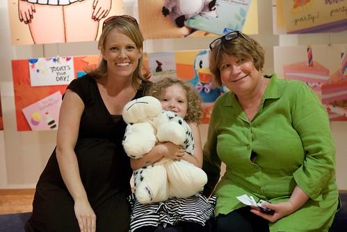 Sarah, Addie and Molly at Hallmark headquarters.