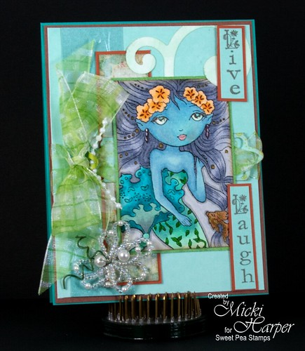 Little Jasmine Mermaid in Blue
