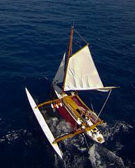 KAP on O Tahiti Nui Freedom outrigger Canoe - GoPRO set (Pierre Lesage) Tags: sailing pacificocean kap migration heidy kiteaerialphotography autokap outriggercanoe pierrelesage kapstock goproherohd otahitinuifreedom pfknighthawkdelta