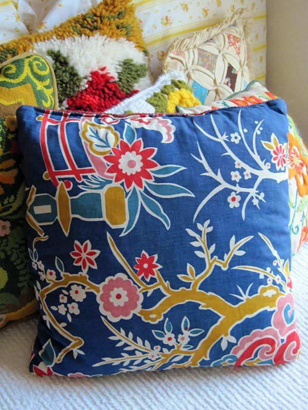 Pretty homemade pillow