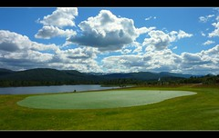Artificial... (Minkn) Tags: blue summer sky cloud mountain mountains color green nature beautiful grass norway club clouds golf walking spectacular landscape norge nice scenery skies colours eagle great natur artificial course norwegian scenary golfing stunning gras aust blå hovden agder tz7 scenicsnotjustlandscapes minkn