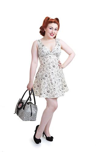 Lily Belle models Shrinking Violet, Bristol