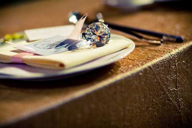 wedding favour - big diamond ring napkin holder