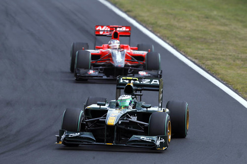 Heikki in race action in Hungary