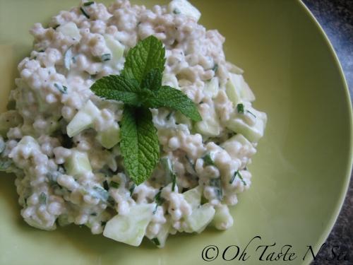Barley Salad w/ Cucumber and Yogurt @ Oh Taste N See