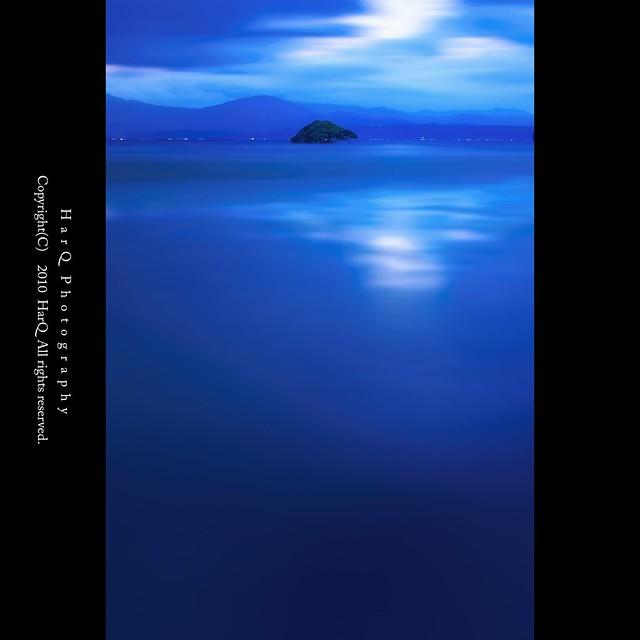 Blue Moment on Lake Biwa *