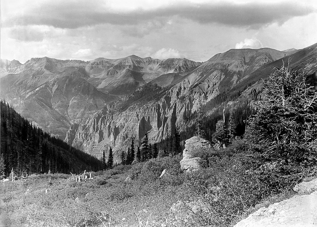Marshall Basin from Bridal Veil Basin, CW Cross, USGS 1899