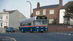 No room on top (Lady Wulfrun) Tags: bus buses conversion double deck single mk2 converted 1956 1994 1990s stourbridge fleetline vauxhall decker hovis cavilier wmt alphaone wda956t e483rnx 02sep94 fosterstreeteast 2ndseptember1994