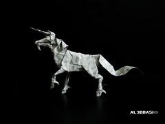 Unicorn (Al3bbasi.) Tags: horse origami fantasy unicorn kamiyasatoshi al3bbasi