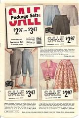 montgomery ward summer 1959 catalog (CapricornOneVintage) Tags: woman fashion vintage ephemera clothes jeans departmentstore 1950s denim catalog wards 1959 montgomeryward sanforized monkeywards