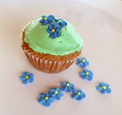 mini de chocolate no jardim! (panapan doces) Tags: verde azul flor mini cupcake florzinha buttercream colorido acar cobertura baunilha confeito