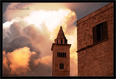 Trani: Sfarzo Medioevale (wide) (Michele Cannone) Tags: light sunset red sun church clouds tramonto nuvole cathedral cloudy chiesa explore sole frontpage rosso luce romanic romanico cattedrale nuvoloso trani