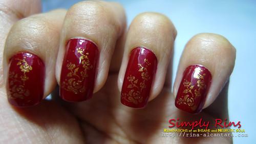 Nail Art - Forever Crimson 03