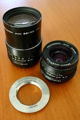 My Pentacon vintage lenses