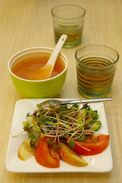IMGP0677_前菜沙拉與青菜湯