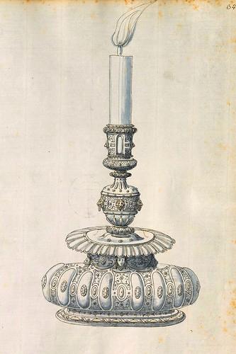 012-Candelabro-Entwürfe für Prunkgefäße in Silber mit Gold-BSB Cod.icon.  199 -1560–1565- Erasmus Hornick