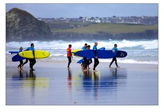 Surf School at Watergate Bay (Mark-Crossfield) Tags: pictures uk greatbritain sea england beach coast photo sand watergatebay cornwall surf waves image photos sandy picture wave images surfing surfschool beaches watergate sandybeach bigwave photosof picturesof nearnewquay imagesof watergatebayhotel markcrossfield