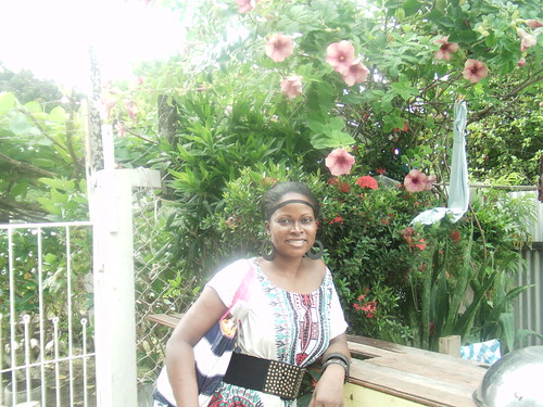 Abiola at Great Grandmother Ma's House in Guyana 3