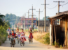 After School (tianxiaozhang) Tags: china summer kids countryside farm bikes explore hunan 250mm xiangxiang eos450d efs55250is