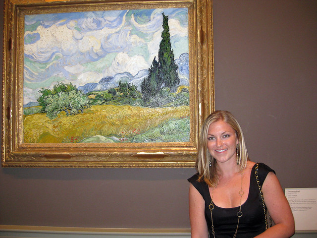 Inside the MET with my favorite artist, Van Gogh