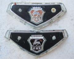 Volga M-24 grill emblems - 1970 (baga911) Tags: auto car emblem logo automobile gaz badge 24 russian volga ussr cccp rus wolga эмблема m24 волга kgst газ