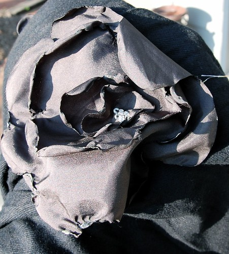 Black Flower Scarf