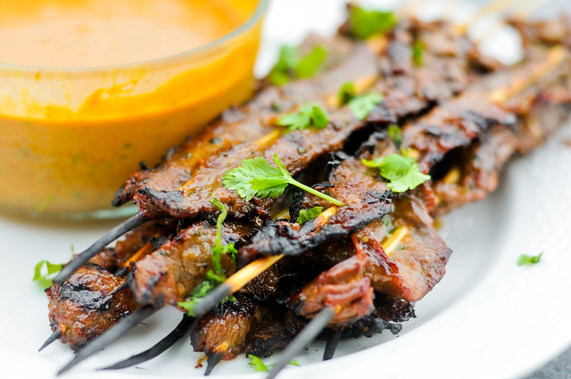 Grilled Thai Beef Satay Recipe :: The Meatwave