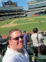 Athletics v. Rangers (Jeremy Andrews) Tags: oakland athletics baseball coliseum texasrangers ballpark mlb americanleague as oaklandalameda