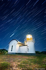 Port Macquarie Lighthouse (-yury-) Tags: longexposure lighthouse night star trails australia nsw portmacquarie tackingpoint portmacquarielighthouse