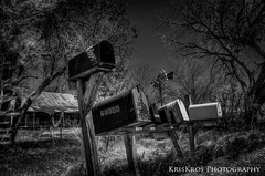 looking up at the heavens (Kris Kros) Tags: bw up mailbox photoshop looking mail box kris heavens hdr kkg the photomatix kros 5xp at kkgallery