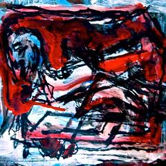 "Painting*, lge, format on illustration board: ""artist's alter ego"" aug. 2010 (THE ART OF STEFAN KRIKL) Tags: illustration modernart paintings selfportraits artistsstudios expressionistart"