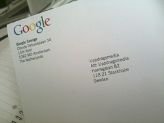 Google Places verification Mail
