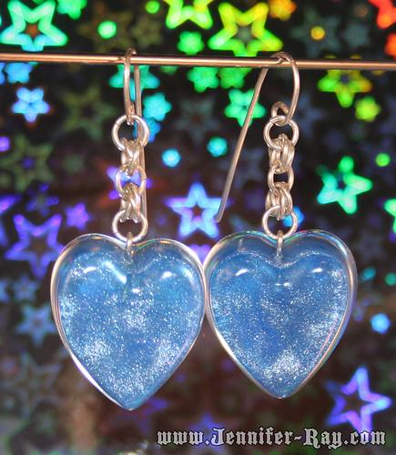 Blue Pearl Silver Earrings