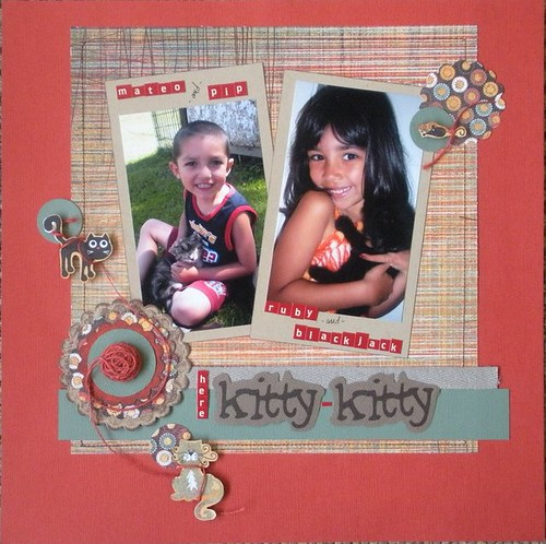 Kitty-Kitty Scrapbook Layout