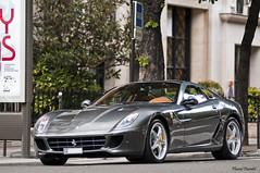 Ferrari 599 HGTE (Lambo8) Tags: horse paris france grey gris switzerland nikon power suisse geneva d ferrari 200 28 300 af nikkor 80 genve f28 ch maranello gtb 80200mm v12 80200 620 80mm d300 200mm 599 fiorano afd grise d80 620hp hgte 620ch jeudi22juillet20102