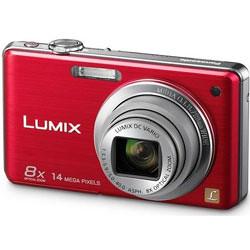Câmera Digital Panasonic DMC-FH22 14.1 MegaPixels Vermelha