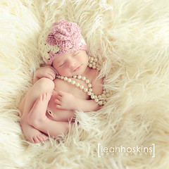 .playing dress up. (*miss*leah*) Tags: sleeping baby flower girl smile hat fur nikon pretty lace girly feminine crochet pearls babygirl newborn girlygirl crochethat newbornphotography nikond700 leahhoskins professionalnewbornphotography
