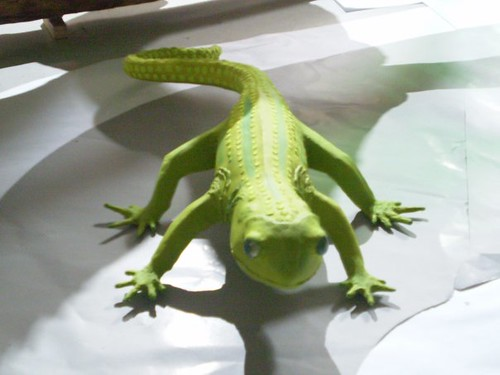 VIDEO DE LAGARTO EN PAPEL MACHÉ  4885130523_d40ec1df79