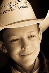 nostalgia (fearfulsymmetry16) Tags: ranch boy portrait hat sepia ian colorado nostalgia backcountry creede