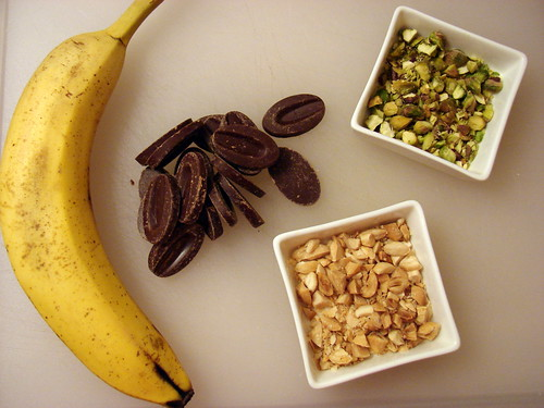 banana, chocolate, nuts