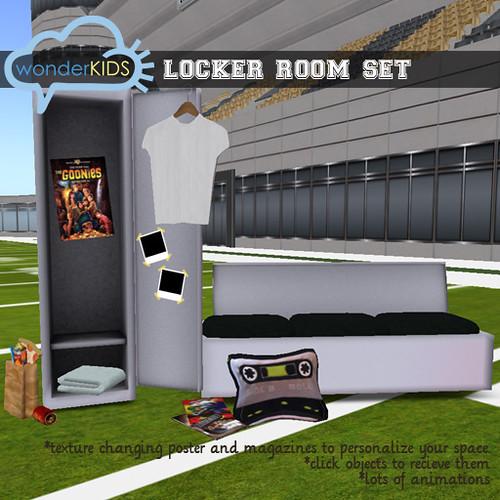 <(wonderkids)! locker room display all