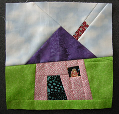 Wonky House Quilt Block swap (lorepuckett) Tags: swap quiltblock swapbot wonkyhouse