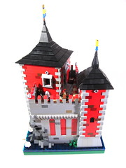 "32x32 ""Castello Rosso"" (vdubguy67') Tags: tower castle forest fan lego adult fort space alabama battle medieval creation pirate knight mecha siege outpost moc afol"