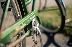 1973 (Heather_Mendonca) Tags: green film bike canon vintage outside schwinn breeze 1973