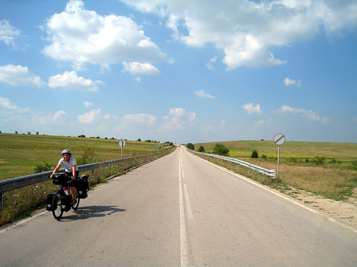 Empty roads in Bulgaria