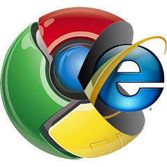 chrome proti internet explorer - youtube